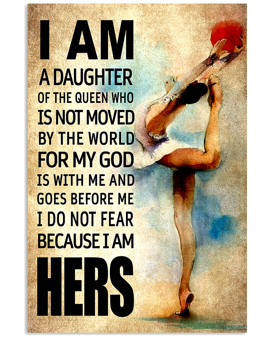 GYMNASTICS DAUGHTER - FOR MY GOD 16x24 Poster
