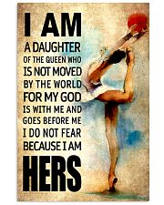 GYMNASTICS DAUGHTER - FOR MY GOD 16x24 Poster front