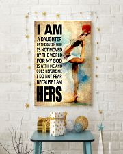 GYMNASTICS DAUGHTER - FOR MY GOD 16x24 Poster lifestyle-holiday-poster-3