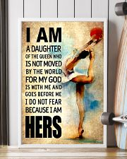 GYMNASTICS DAUGHTER - FOR MY GOD 16x24 Poster lifestyle-poster-4