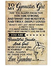 3 TO MY  Gymnastics Girl - Grandma 16x24 Poster front