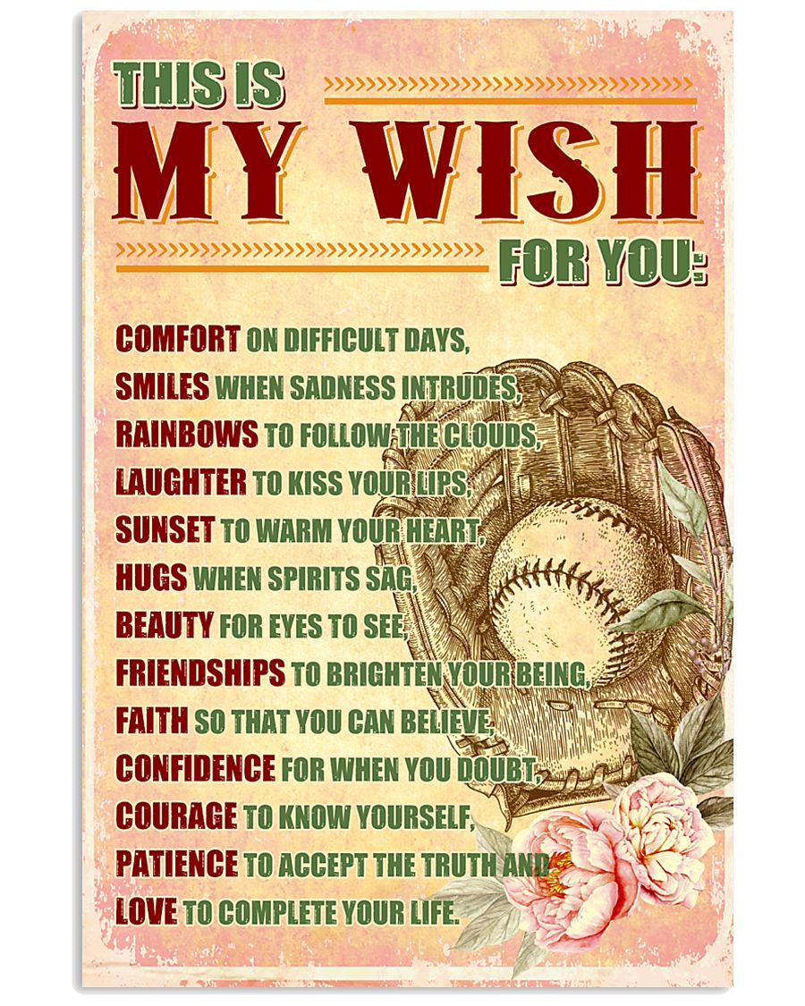 SOFTBALL - THIS IS MY WISH FOR YOU 24x36 Poster