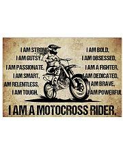 18-I AM A MOTOCROSS RIDER POSTER- GIRL VETCOR KD 17x11 Poster front