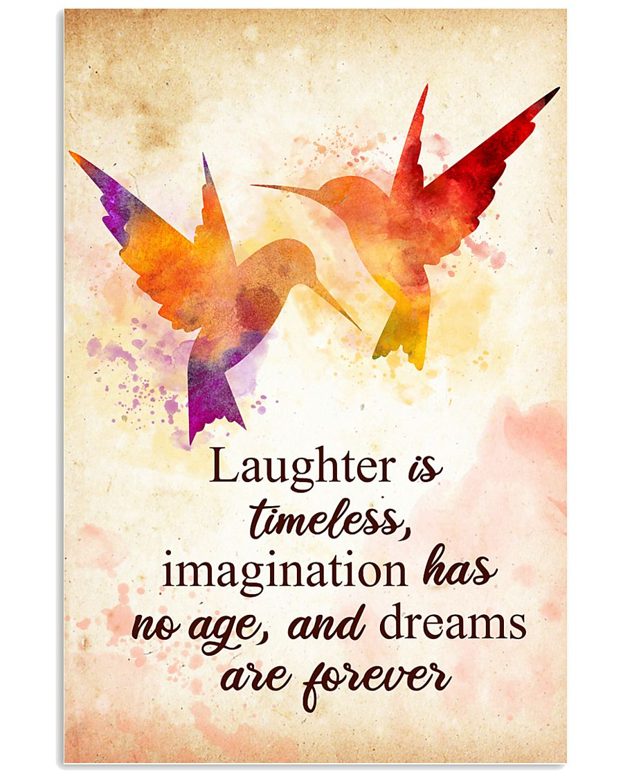 Hummingbird - Laughter is timeless Poster STAR 11x17 Poster