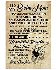 TO MY SWIM MOM DAUGHTER 16x24 Poster front