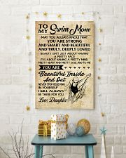 TO MY SWIM MOM DAUGHTER 16x24 Poster lifestyle-holiday-poster-3