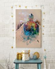 Turtle - Watercolor With Gouache GL poster - TL 11x17 Poster lifestyle-holiday-poster-3