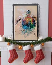 Turtle - Watercolor With Gouache GL poster - TL 11x17 Poster lifestyle-holiday-poster-4