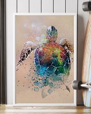 Turtle - Watercolor With Gouache GL poster - TL 11x17 Poster lifestyle-poster-4