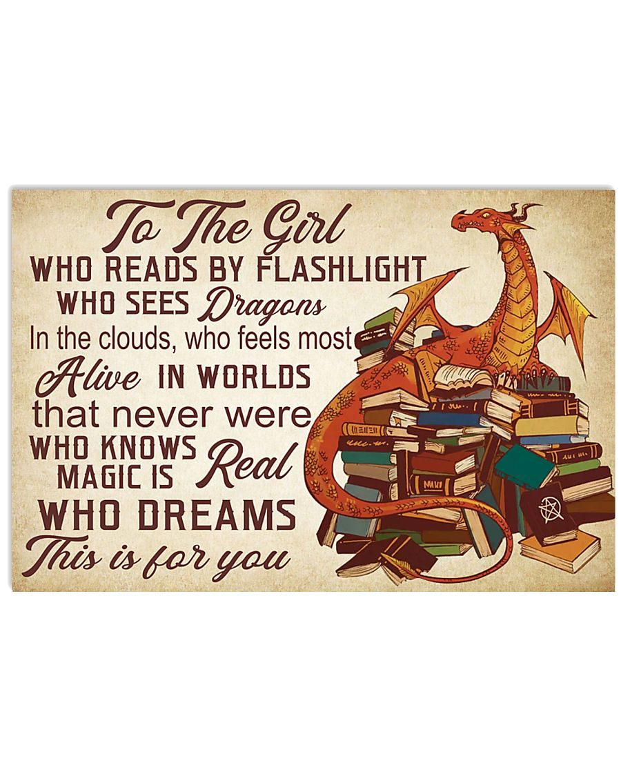 book dragon- this is for you poster 36x24 Poster