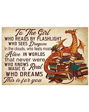 book dragon- this is for you poster 36x24 Poster front