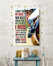 7 I DON'T RIDE MY HORSE TO WIN RACES 11x17 Poster lifestyle-holiday-poster-3