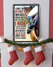 7 I DON'T RIDE MY HORSE TO WIN RACES 11x17 Poster lifestyle-holiday-poster-4