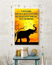 Elephant It Gets Easier Poster 11x17 Poster lifestyle-holiday-poster-3