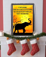 Elephant It Gets Easier Poster 11x17 Poster lifestyle-holiday-poster-4
