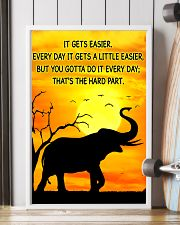 Elephant It Gets Easier Poster 11x17 Poster lifestyle-poster-4