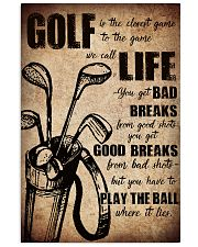 GOLF IS THE CLOSEST GAME TO THE GAME 11x17 Poster front