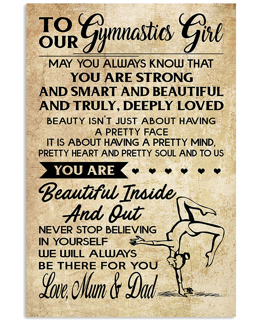 TO MY  Gymnastics Girl - Mum  Dad 16x24 Poster