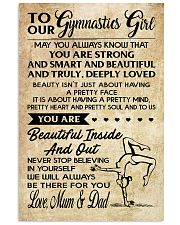 TO MY  Gymnastics Girl - Mum  Dad 16x24 Poster front