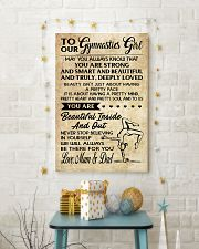 TO MY  Gymnastics Girl - Mum  Dad 16x24 Poster lifestyle-holiday-poster-3
