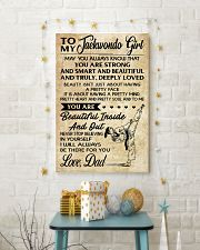TO MY TAEKWONDO GIRL - DAD 16x24 Poster lifestyle-holiday-poster-3
