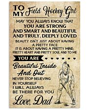TO MY FIELD HOCKEY dad 11x17 Poster front
