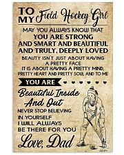 TO MY FIELD HOCKEY dad 16x24 Poster front
