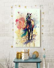 HORSE PAINT ART WATERCOLOR SKY 16x24 Poster lifestyle-holiday-poster-3