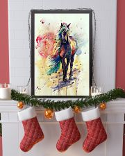 HORSE PAINT ART WATERCOLOR SKY 16x24 Poster lifestyle-holiday-poster-4