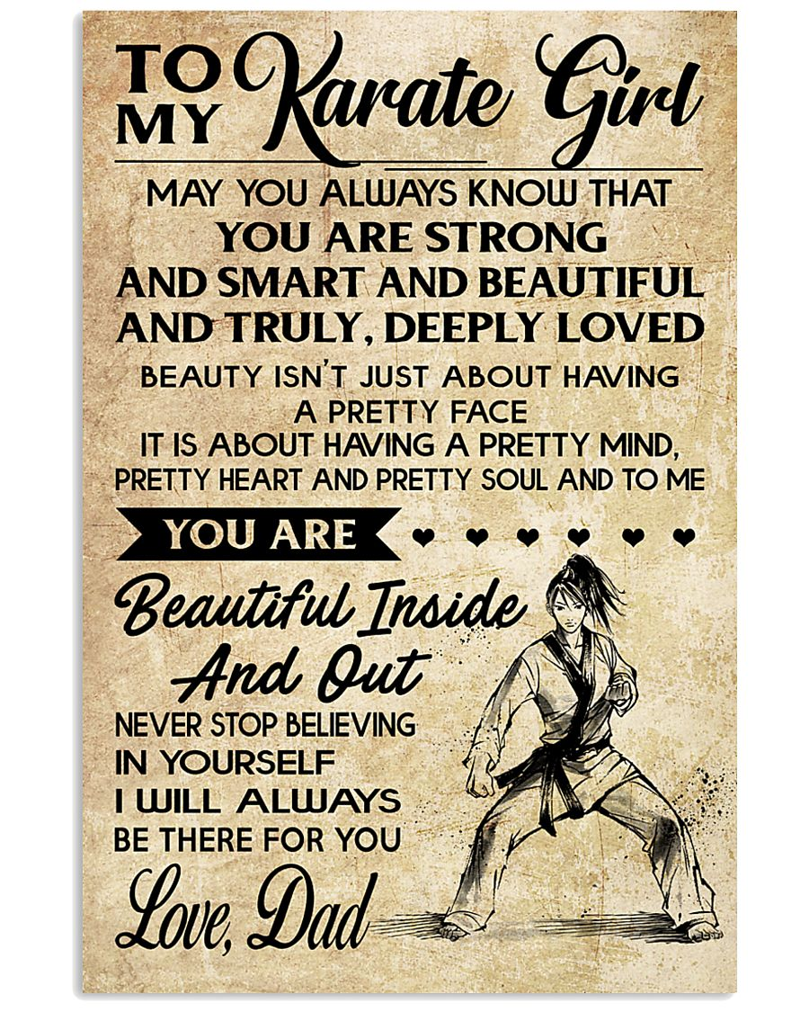 TO MY Karate Girl dad 16x24 Poster