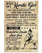 TO MY Karate Girl dad 16x24 Poster front