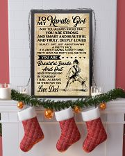 TO MY Karate Girl dad 16x24 Poster lifestyle-holiday-poster-4