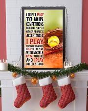 I DON'T PLAY TO WIN COMPETITIONS - SOFTBALL 11x17 Poster lifestyle-holiday-poster-4