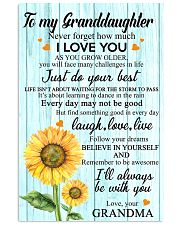 2 TO MY GRANDDAUGHTER I LOVE YOU POSTER 11x17 Poster front