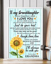 2 TO MY GRANDDAUGHTER I LOVE YOU POSTER 11x17 Poster lifestyle-poster-4
