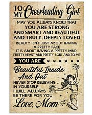 TO MY Cheerleading Girl - MOM 16x24 Poster front
