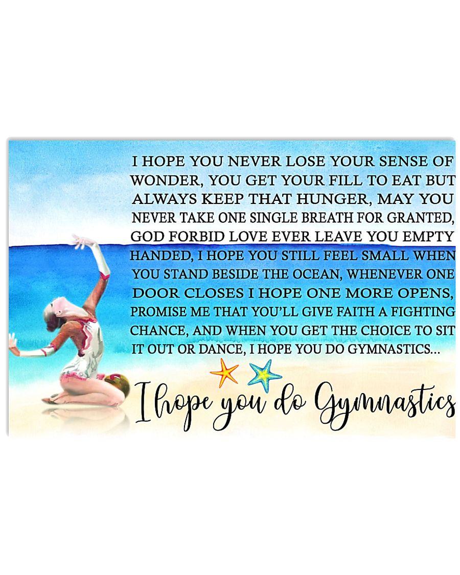 I HOPE YOU DO GYMNASTICS KD 17x11 Poster