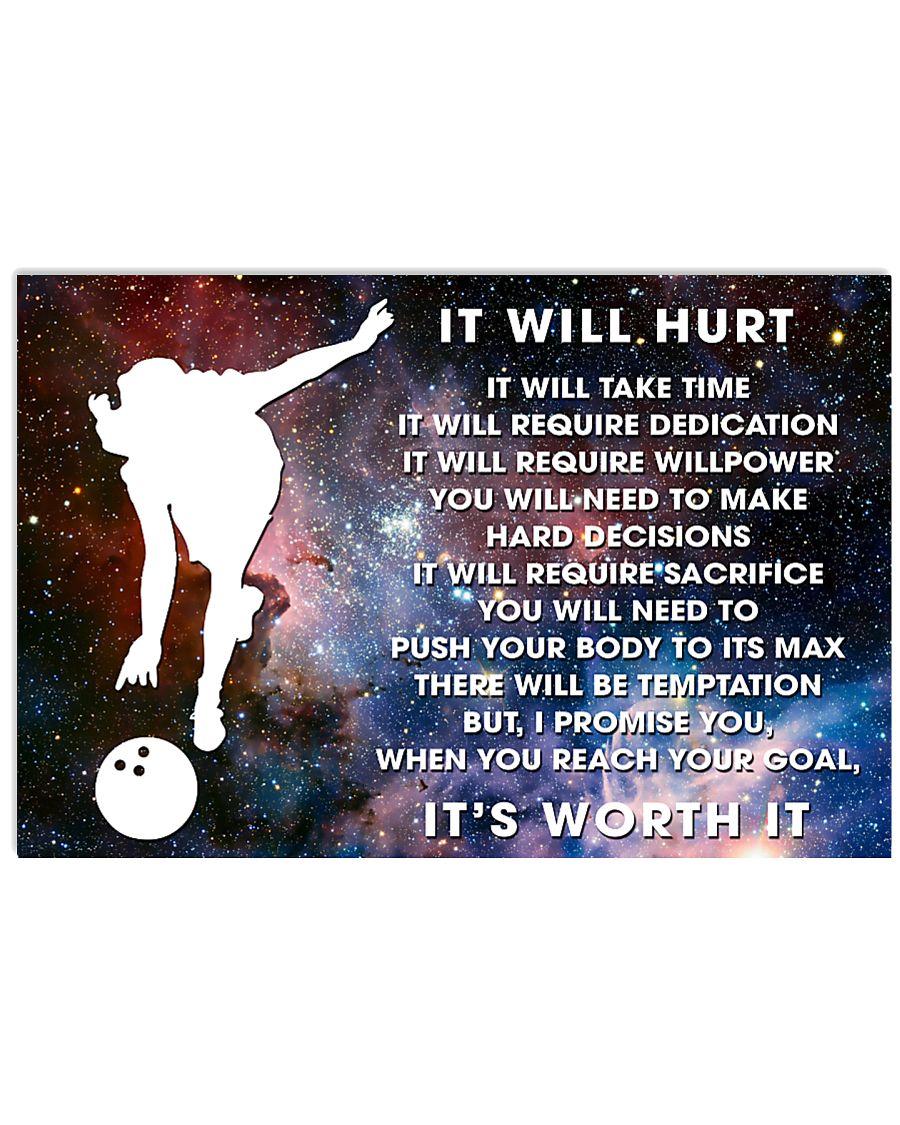 it will hurt bowling 17x11 Poster