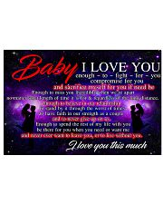 BABY I LOVE YOU 17x11 Poster front