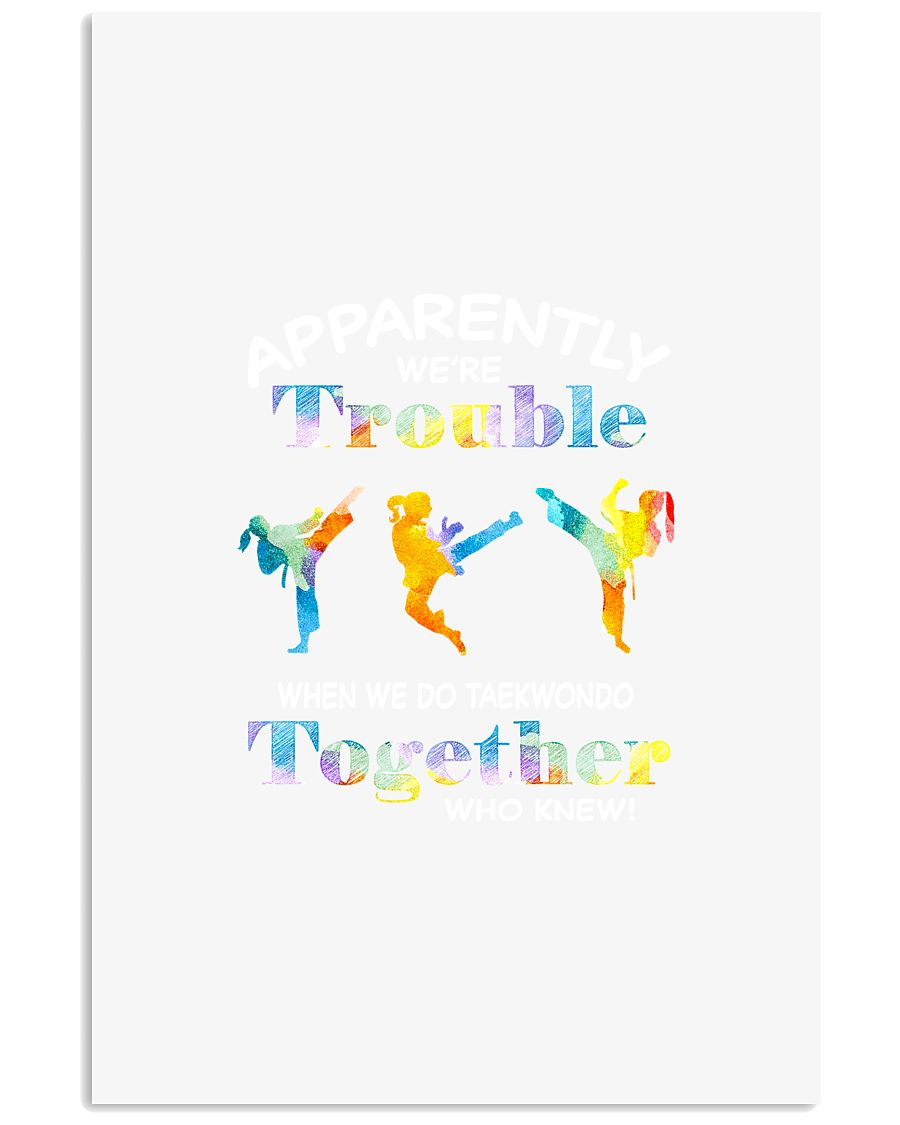 APPARENTLY WE'RE TROUBLE TAEKWONDO 11x17 Poster