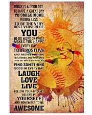 softball- TODAY IS A GOOD DAY POSTER 2 16x24 Poster front