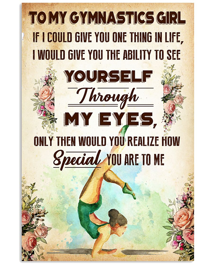 TO MY GYMNASTICS GIRL - YOU ARE TO ME 11x17 Poster