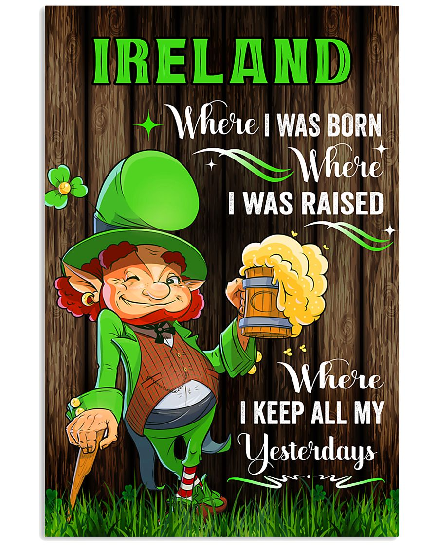 Ireland Where I was born Poster 11x17 Poster