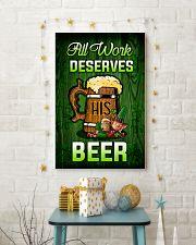 Irish All work deserves his beer Poster 11x17 Poster lifestyle-holiday-poster-3