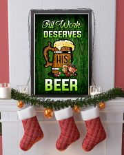 Irish All work deserves his beer Poster 11x17 Poster lifestyle-holiday-poster-4