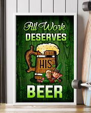 Irish All work deserves his beer Poster 11x17 Poster lifestyle-poster-4
