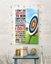 I DON'T DO ARCHERY TO WIN COMPETITIONS 11x17 Poster lifestyle-holiday-poster-3