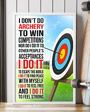 I DON'T DO ARCHERY TO WIN COMPETITIONS 11x17 Poster lifestyle-poster-4