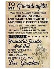 TO MY granddaughter- grandma 16x24 Poster front