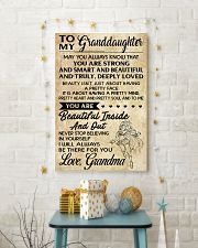 TO MY granddaughter- grandma 16x24 Poster lifestyle-holiday-poster-3